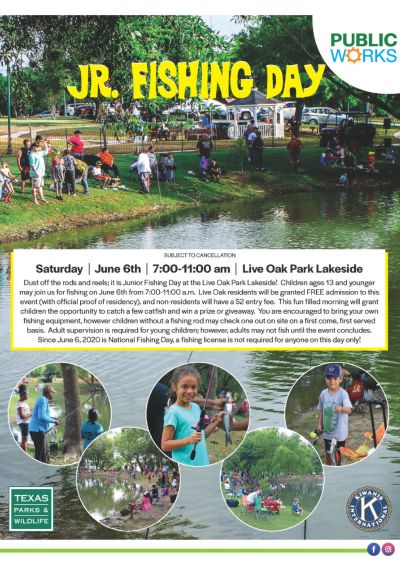 Jr. Fishing Day | June 6th | 7:00-11:00am