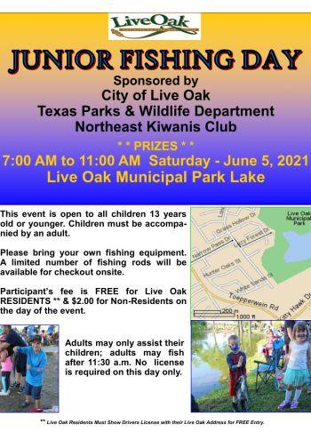 Jr. Fishing Day | June 5th | 7:00-11:00am