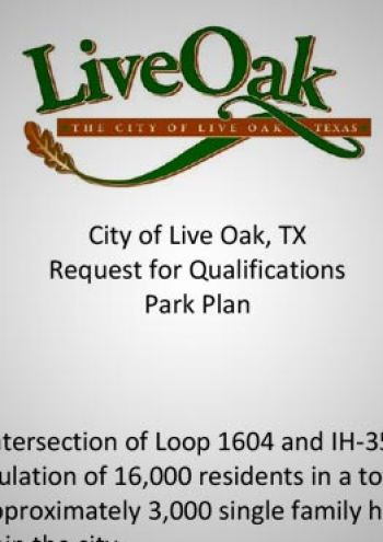 Updated Park Plan and Comprehensive Plan RFQ