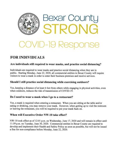 COVID-19 Bexar County Response June 17