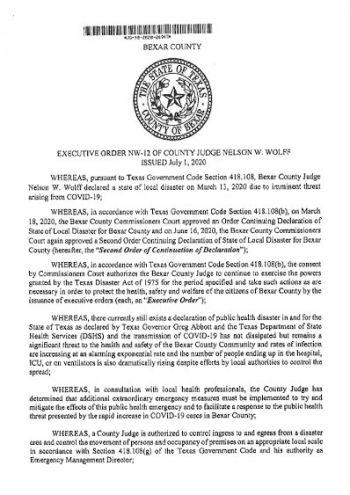 Executive Order NW-12