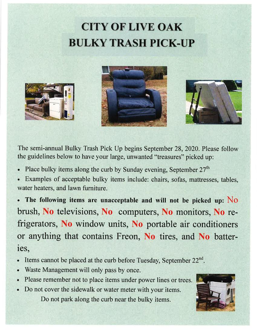 Bulky Trash Pick Up