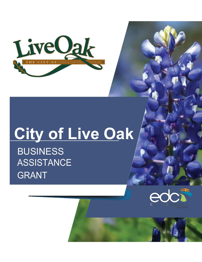 Live Oak Business Assistance Grant - COVID-19
