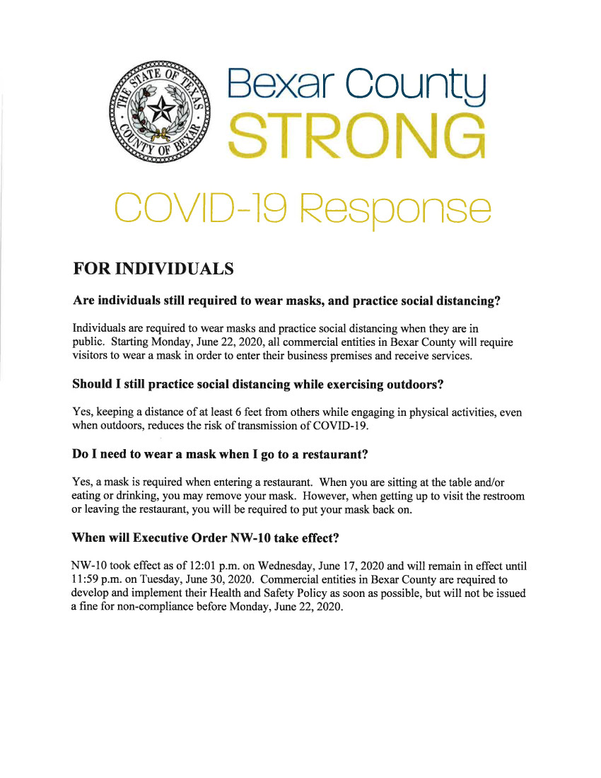 COVID-19 Bexar County Response June 17